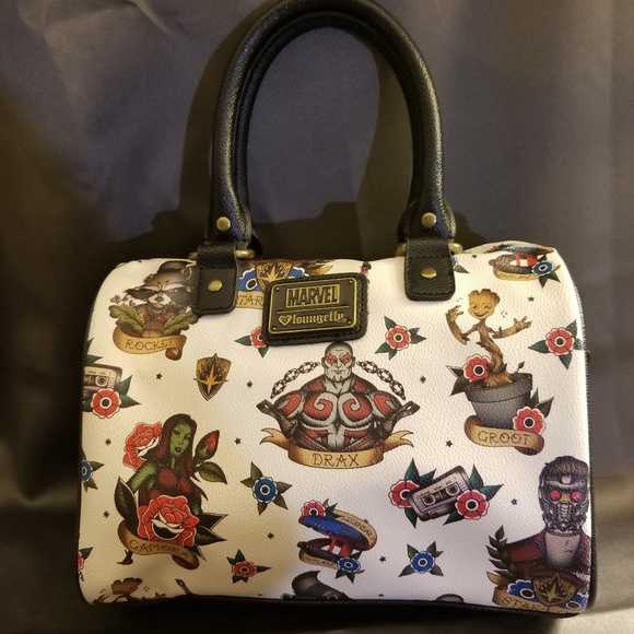 Loungefly Bags   Marvel Guardians Of The Galaxy Satchel   Poshmark 0a536f007a